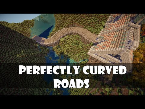 Tutorial: Perfectly curved minecraft roads