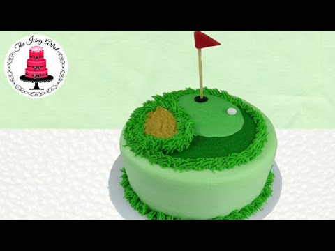 Father's Day Golf Course Cake - How To With The Icing Artist