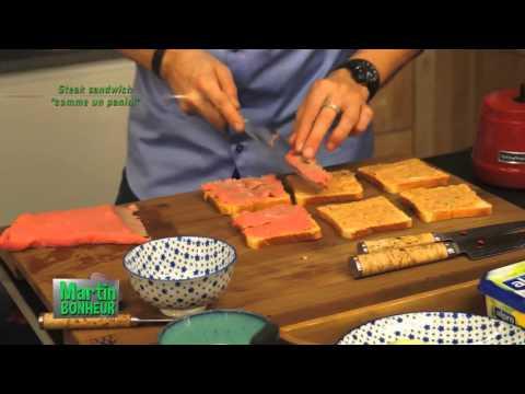 21   Steak sandwich comme un panini