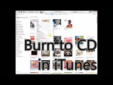 How to burn CDs from iTunes