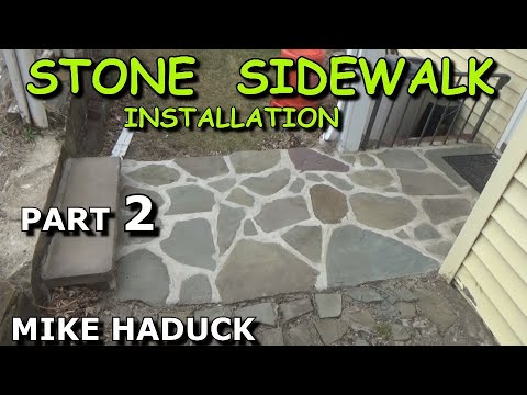 How I install a stone sidewalk (part 2 of 3) Mike Haduck