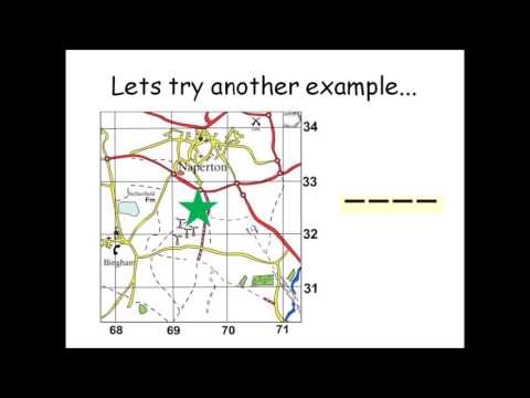 How to use four figure grid references - Geographical skills