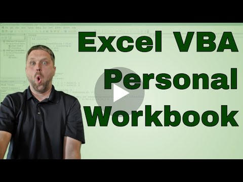 EverydayVBA Personal Workboook Setup and Recording Macros