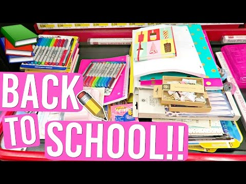 BACK TO SCHOOL SHOPPING FOR SCHOOL SUPPLIES!! AlishaMarieVlogs
