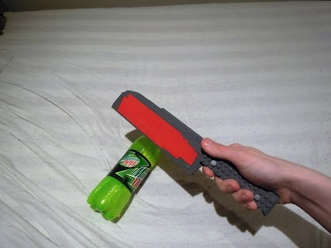 EXPERIMENT Glowing 1000 Degree LEGO KNIFE VS MOUNTAIN DEW!