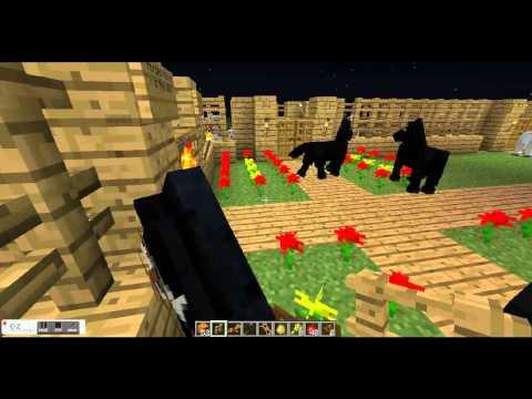 Minecraft Mo cretures tutorials how to get a zebra and horse stuff
