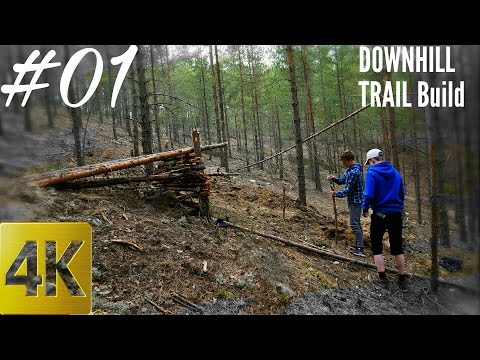 HUGE Jump and STEEP Descent | MTB Trail building #01