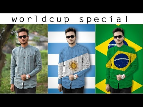 Football Worldcup special editing tutorial in photoshop