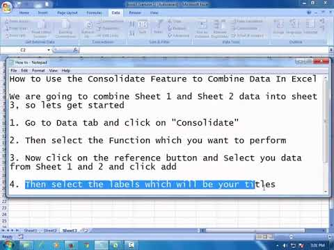 How to Use the Consolidate Feature to Combine Data In Excel