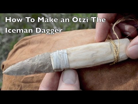 How to make an Otzi the Iceman Flint Dagger. Ancient Bushcraft Survival Skills.