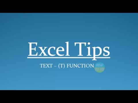 How To Us Text   T Function in Excel