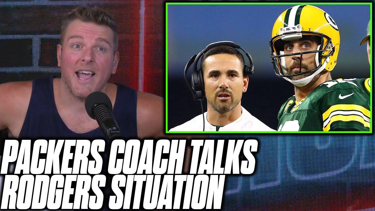 Pat McAfee Reacts To Matt LaFluer Talking Rodgers Situation, Signing Blake Bortles