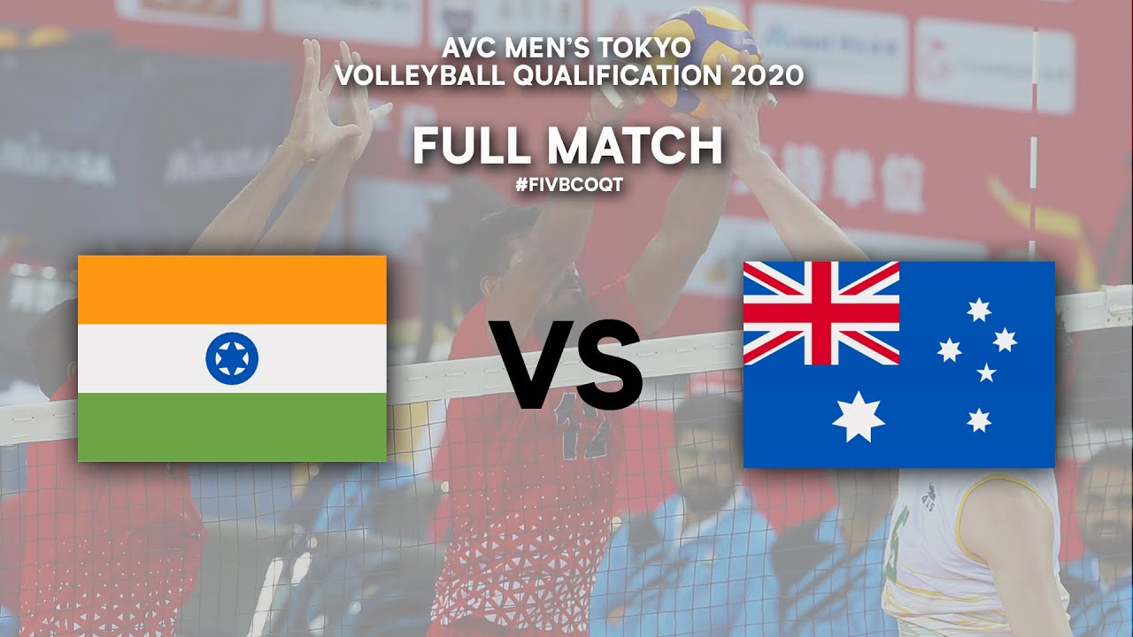 IND vs. AUS - Full Match   AVC Men's Tokyo Volleyball Qualification 2020