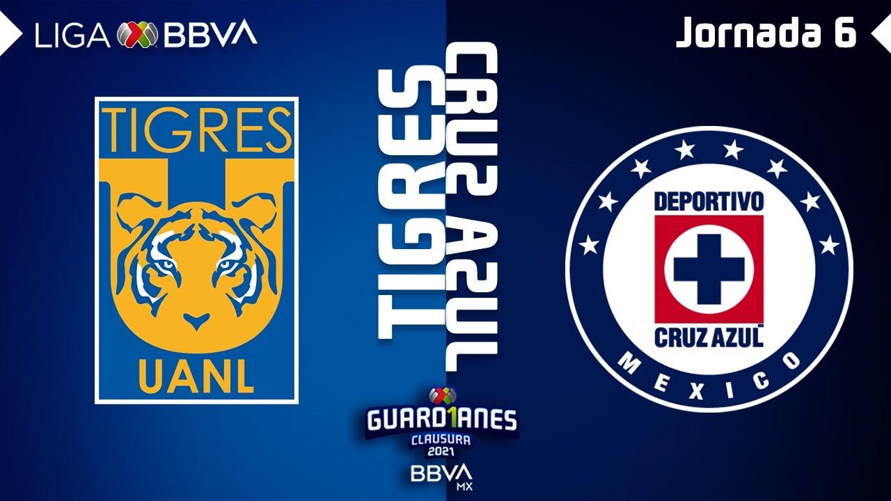 Resumen y Goles   Tigres vs Cruz Azul   Liga BBVA MX - Guard1anes 2021 - Jornada 6