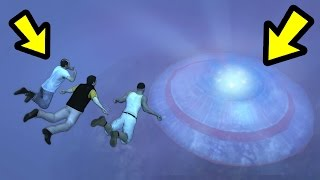 WHAT HAPPENS IF THEY MEET AT THE SUNKEN UFO? (GTA 5)
