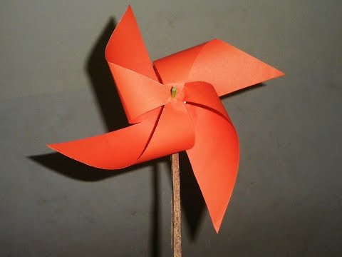 DIY Easy Paper Made Windmill Toy
