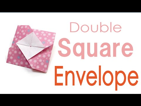 Origami Paper Double Square Envelope - Origami Kawaii〔#047〕
