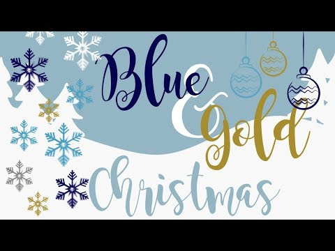 Clean & Decorate With Me | Blue & Gold Decor | Glam Winter Wonderland