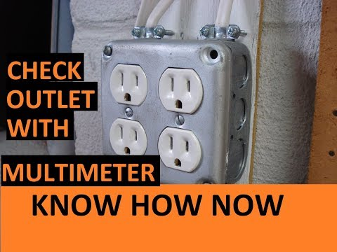 How to Test an Outlet With a Multimeter