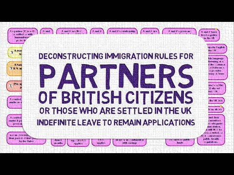 Indefinite Leave to Remain as Partners of British Citizens