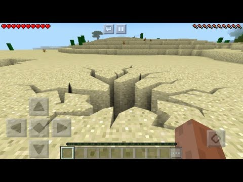 Realistic Earthquake Trick in MCPE 1.2! (Minecraft PE)