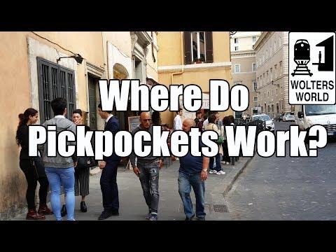 Where Do Pickpockets Rob Tourists?