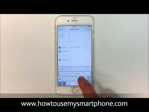 How to Add a Contact - iPhone 6