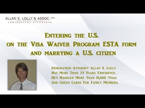Marrying in the USA on ESTA Visa Waiver Program
