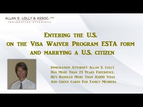 Marrying in the USA on ESTA Visa Waiver Program