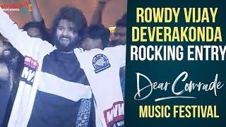 Vijay Deverakonda ROCKING Entry | Dear Comrade Music Festival | Rashmika Mandanna | Bharat Kamma