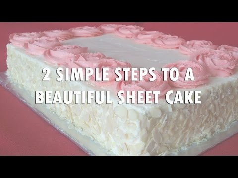 Easy Buttercream Roses Sheet Cake Decorating