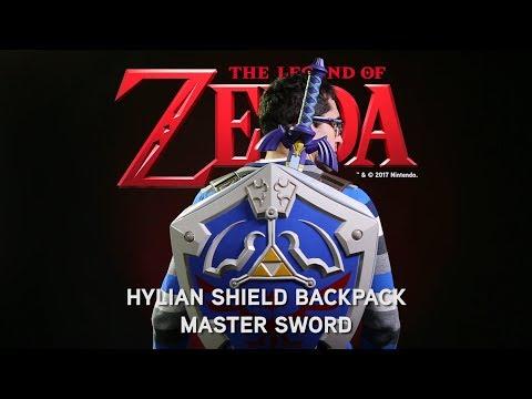 Legend of Zelda Hylian Shield Backpack & Master Sword from ThinkGeek
