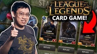 NEW LEAGUE OF LEGENDS CARD GAME! Legends of Runeterra Introduction!