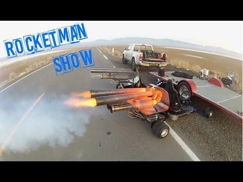 Rocket Man Show!  Super BAD Pulsejet go kart!