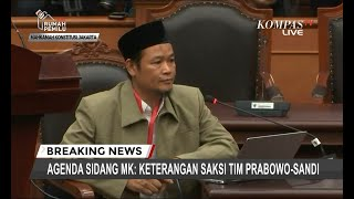 Bersaksi di Sidang Sengketa Pilpres, Saksi Tim Prabowo Mengaku Diancam Dibunuh