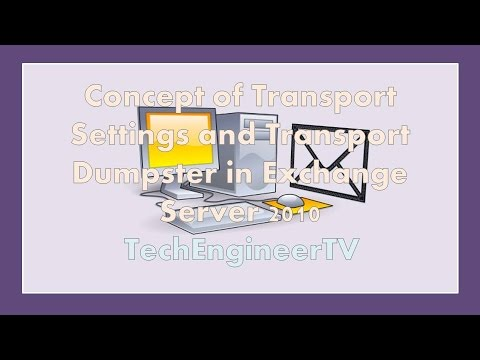 Concept of Transport Settings and Transport Dumpster in Exchange Server 2010
