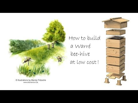 How to build a Warré beehive at low cost  by David Heaf - sustainable bee-keeping UK