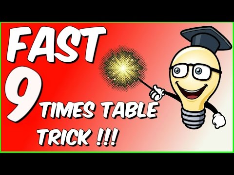 Fast 9 times table trick!!!