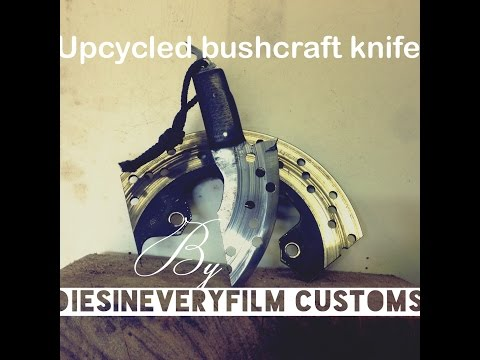 Upcycled knife from a disc brake