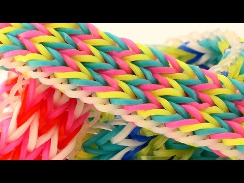 How To Make A Tripple Fishtail Rainbow Loom Bracelet - Easy Loom Band Tutorial