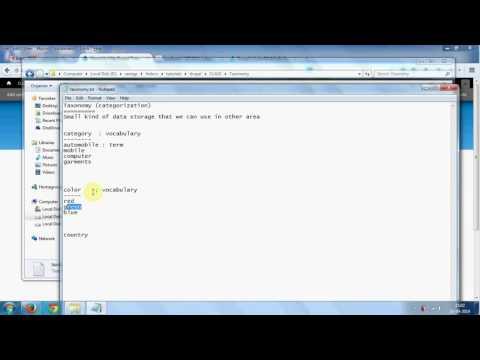Drupal Taxonomy tutorials