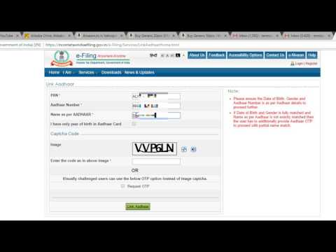 Link AADHAR With PAN Card FREE With Easy Steps- ( ENGLISH )