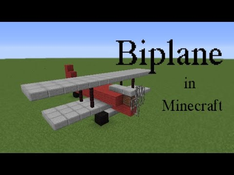 How to build a Biplane in Minecraft