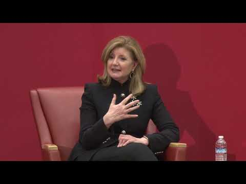 Arianna Huffington in the Dean's Lecture Series