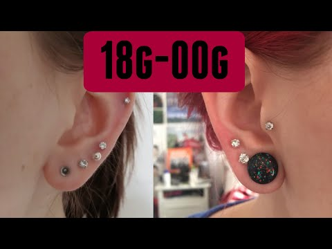 My Ear Stretching Journey! | 18g-00g  | Alyssa Nicole |