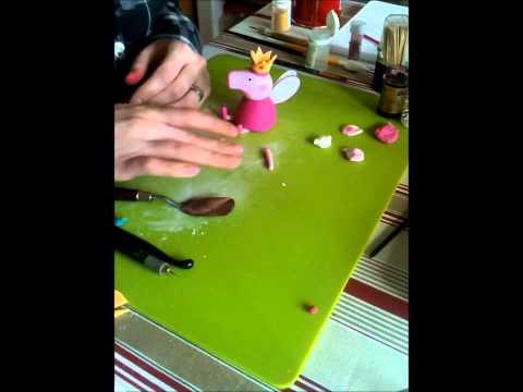 How to make a Princess Peppa Cake Topper - Part 3