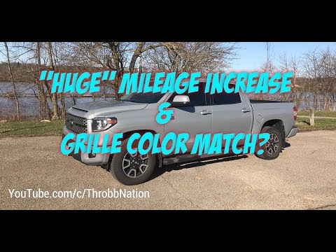 Tundra's Huge Mileage Increase and Grille Color Match