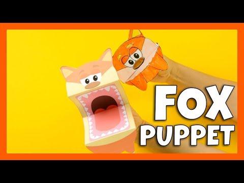 Handpuppet Fox Template - Fox crafts for kids