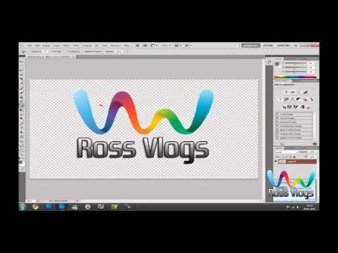 How To Make a Transparent LOGO in Photoshop CS6