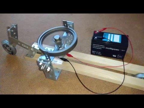 Gyrocar #1 (gyroscope stabilized 2-wheeled toy)